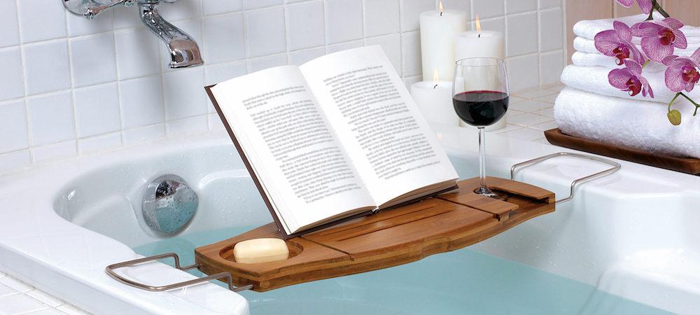 88441 (3) umbra aquala bamboo bathtub caddy