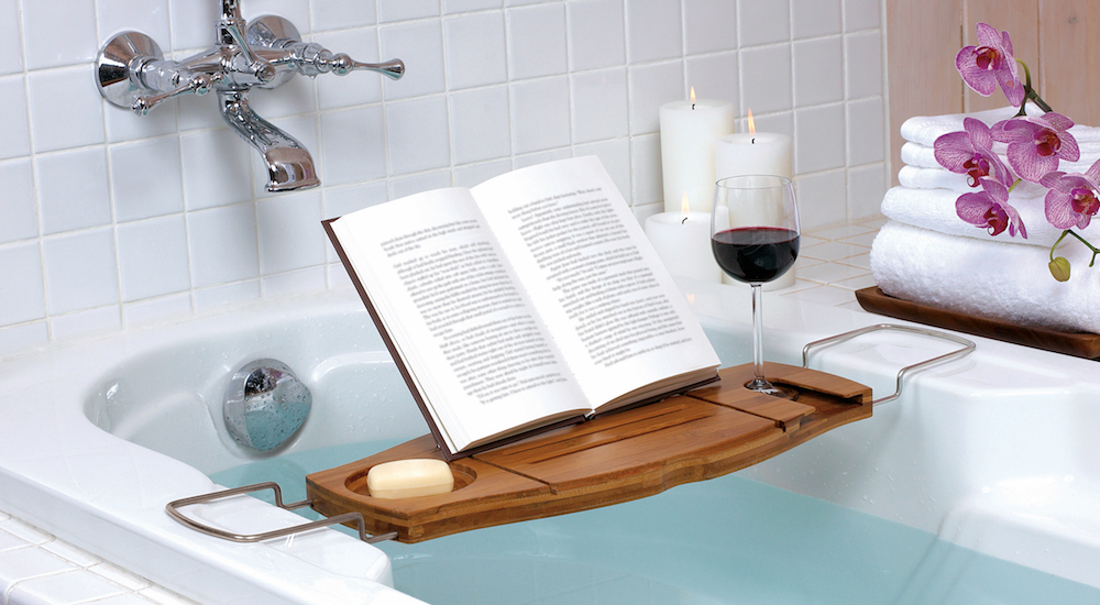 88441 (3) umbra aquala bamboo bathtub caddy