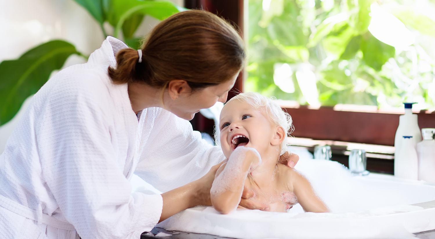 Bath Event - Mother and child