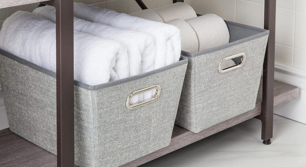Everyday Jute Closet Collection 'Medium' Storage Tote grey