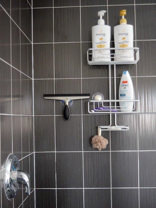 kashmiri foodie clean organized bathroom shower cleaning