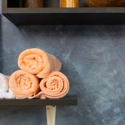 Towels Stacked bathroom organization