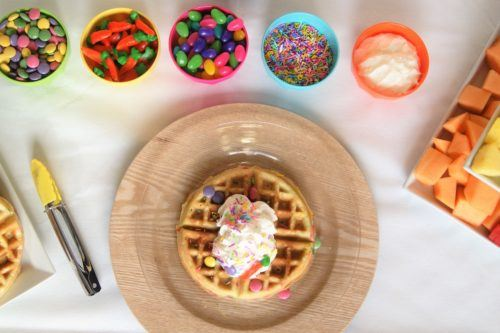 easter brunch - francesca - hungry homemaker - waffle bar