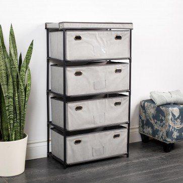 KSP Fabric '4-Drawer' Storage Cabinet
