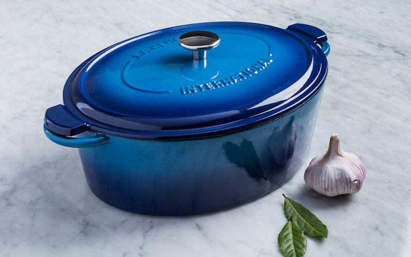 Henckels International 6L Enamel Cast Iron Oval Dutch Oven