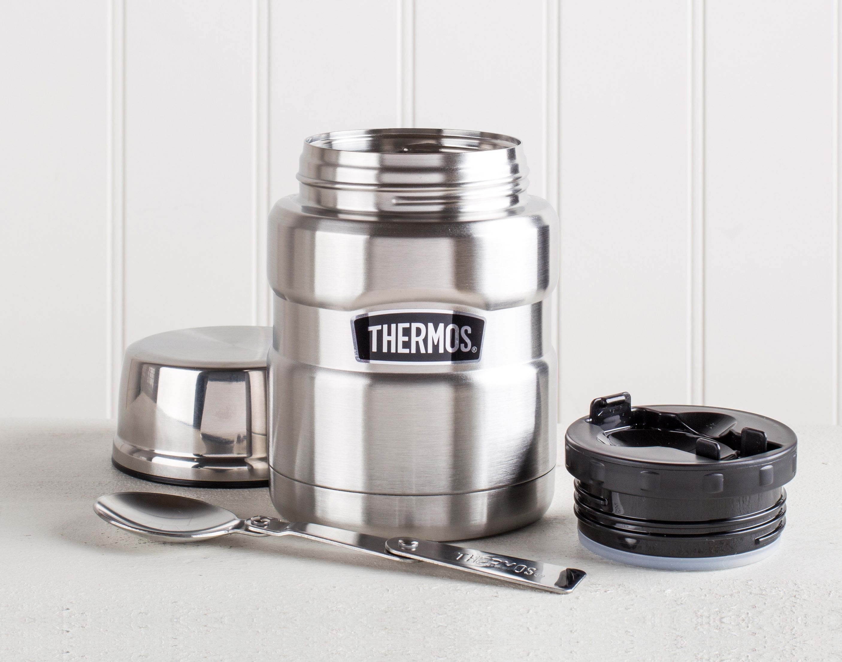 thermos container with built in spoon for back-to-school