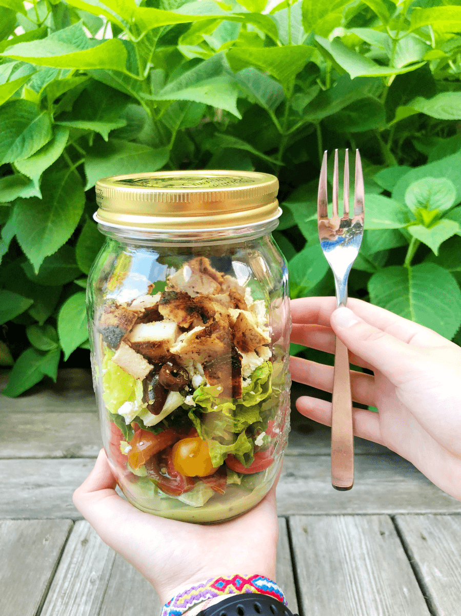salad in a jar for lunch