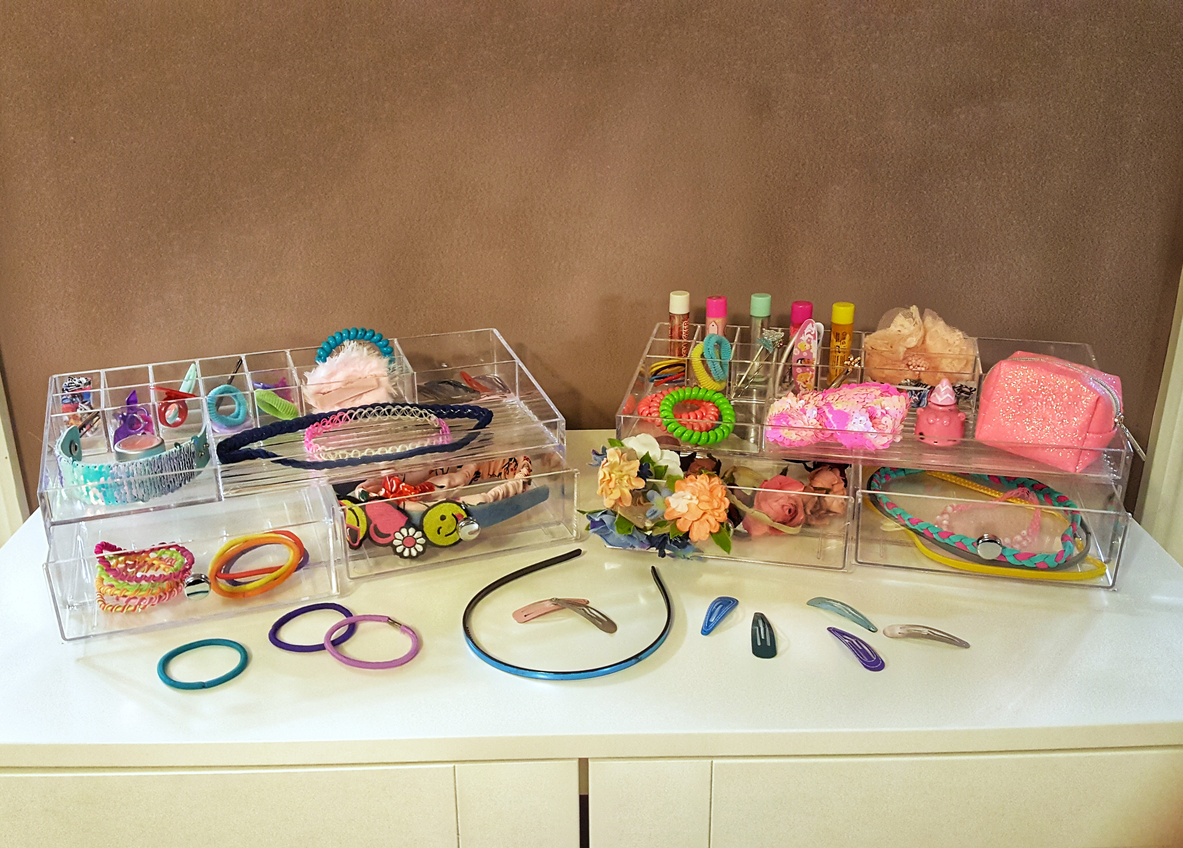 hair accessory organization for early school mornings