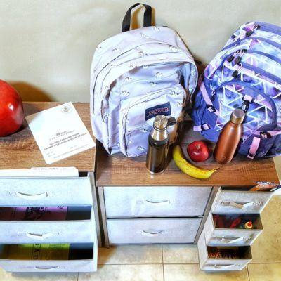 homework station for school morning shuffle