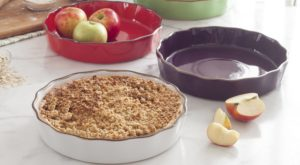 ksp tuscana pie dishes with apples and pie