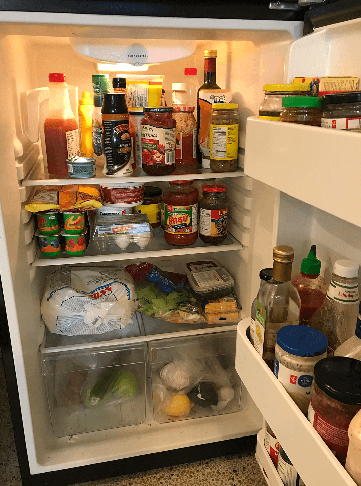 fridge before for kitchen organization