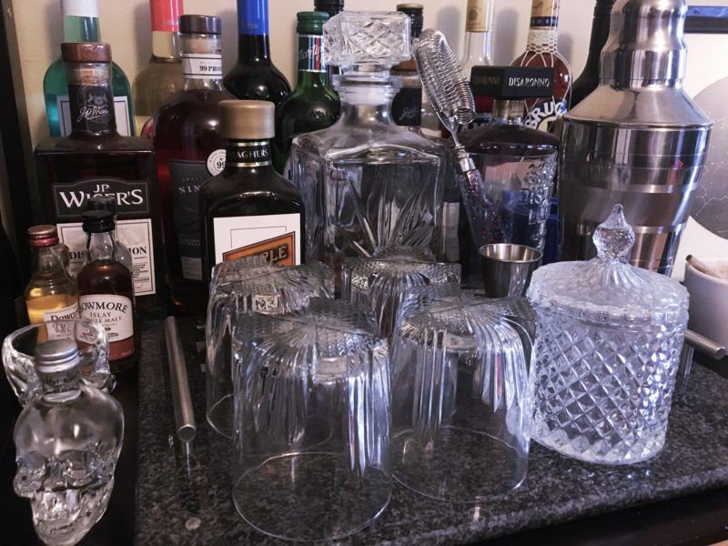 Home Bar - Glassware - decanter and glasses