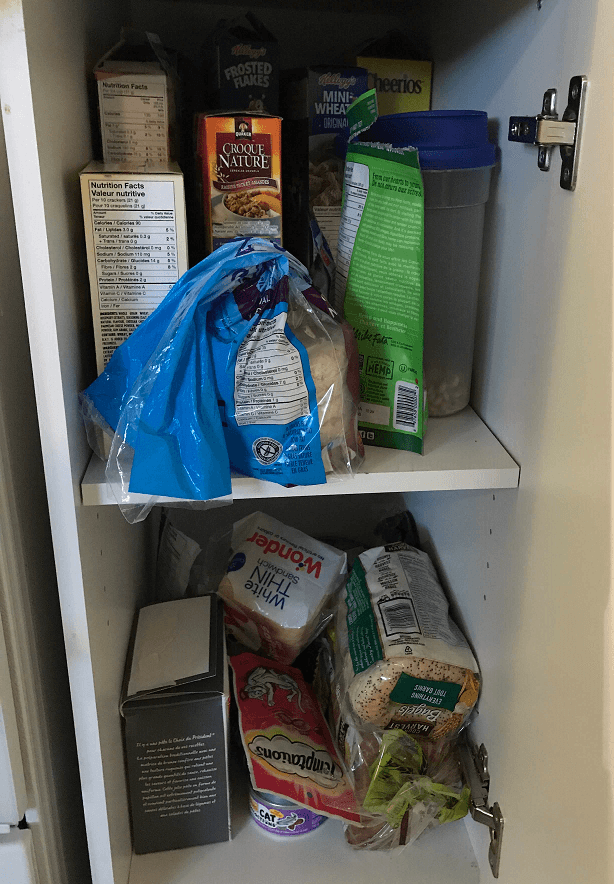 pantry beforefor kitchen organization