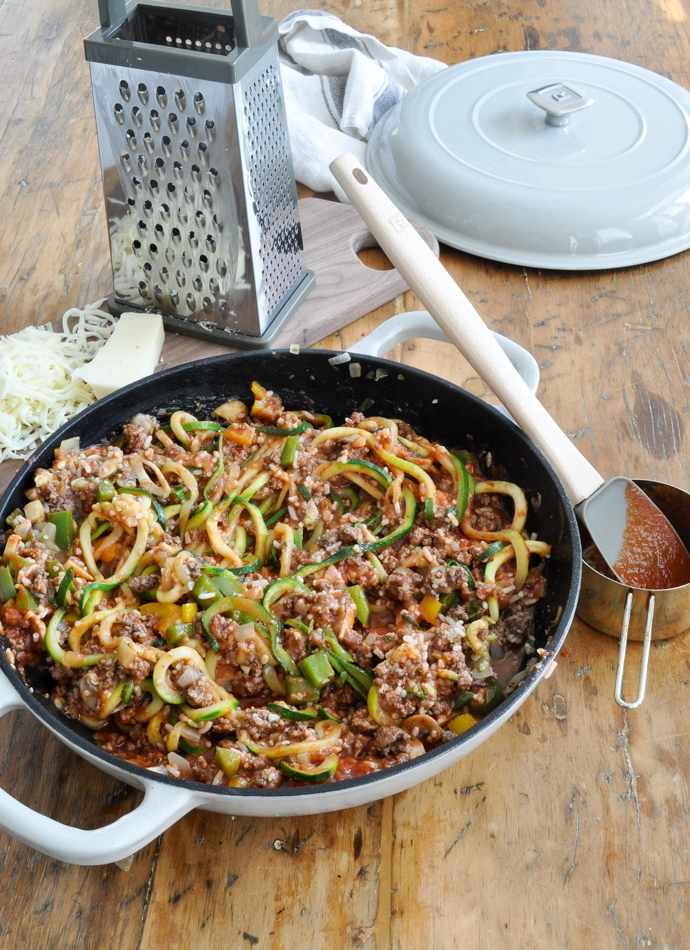 bolognese with zucchini noodles