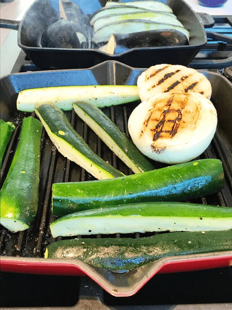 zucchini in staub cast iron