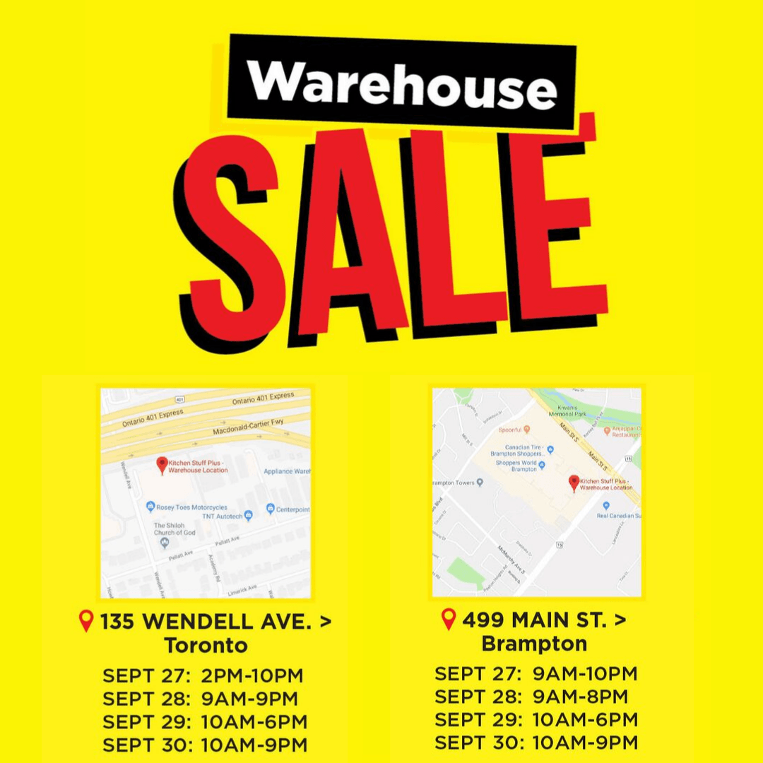 September warehouse sale hours click to see