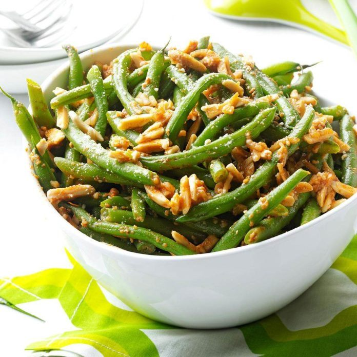 crunchy green bean side