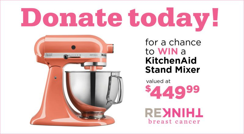 rethink breast cancer stand mixer