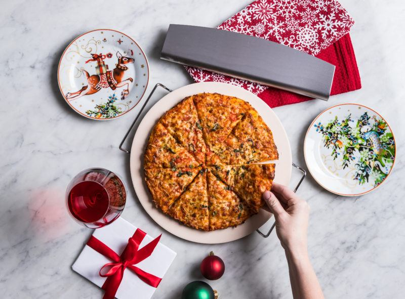 KSP Pizza Stone with Cutter & Stand, gift guide 20 christmas gifts under $20