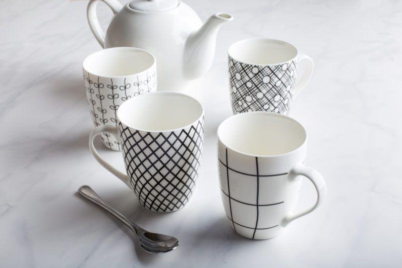 KSP Bone China Mug Set of 4, gg gift guide