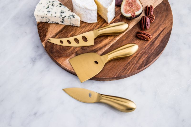 KSP Host Cheese Knives, Gold, GG gift guide