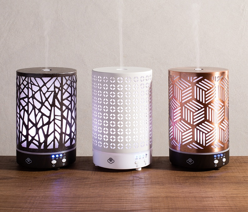 3 styles of essential oil diffusers