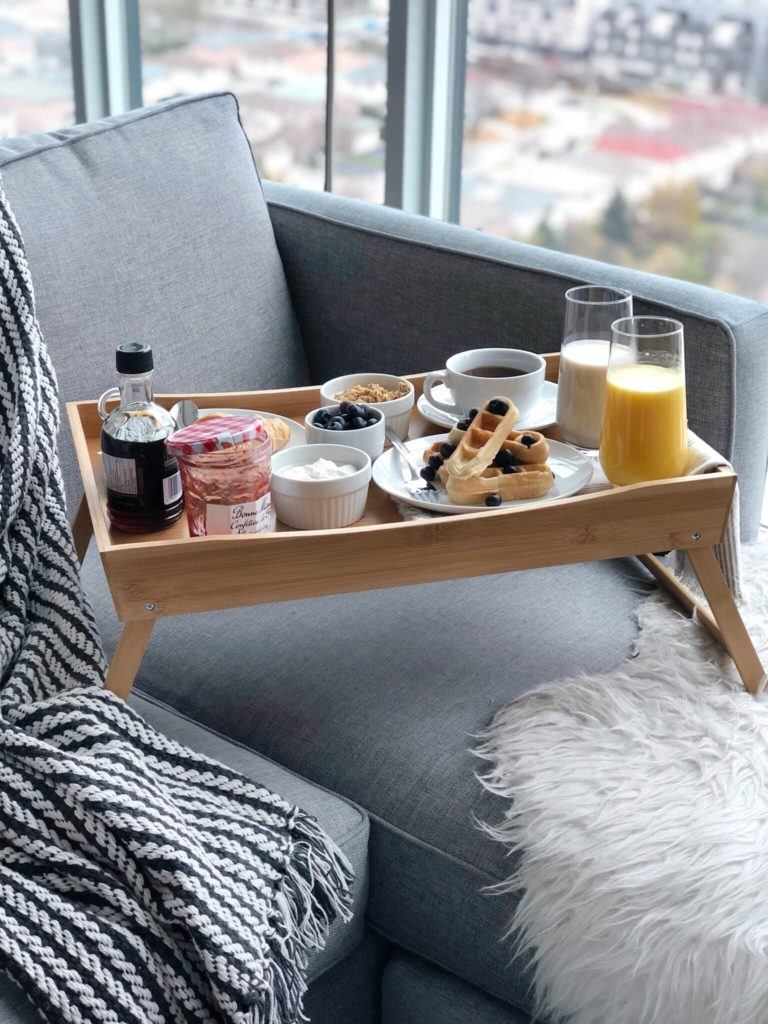 folding bed tray under $50 budget-friendly gift pick