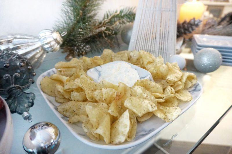 Caesar 'Marble' Porcelain Chip and Dip Square