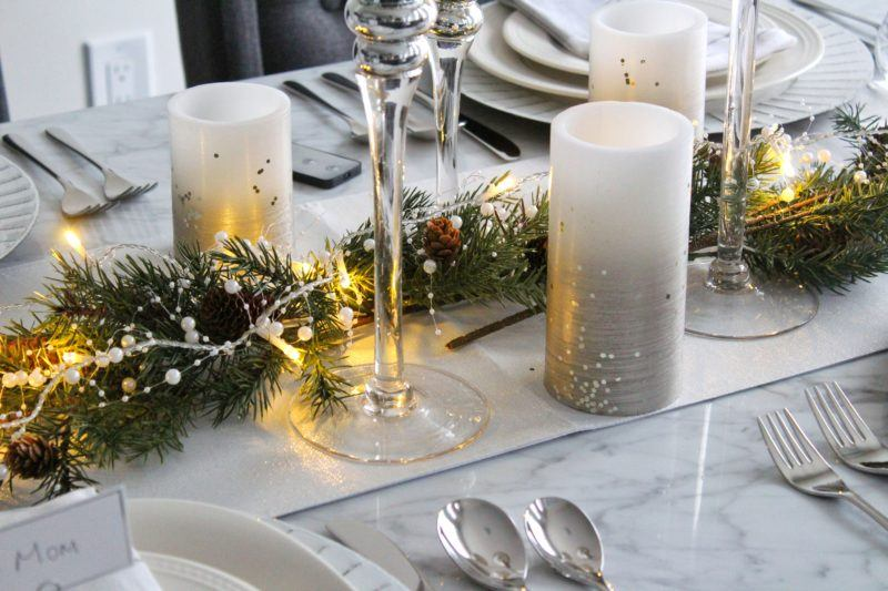 Tablescape 2 candles