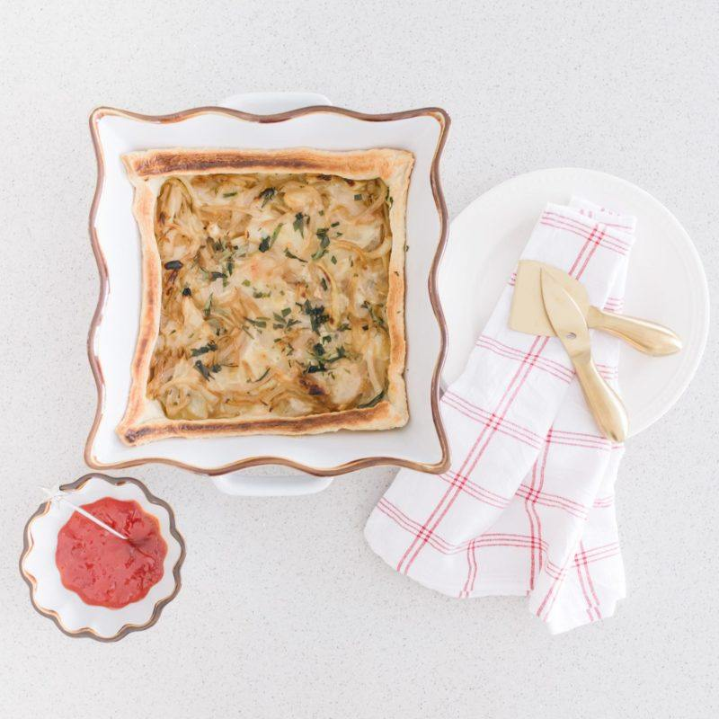 caramelized onion tart - easy holiday appetizers