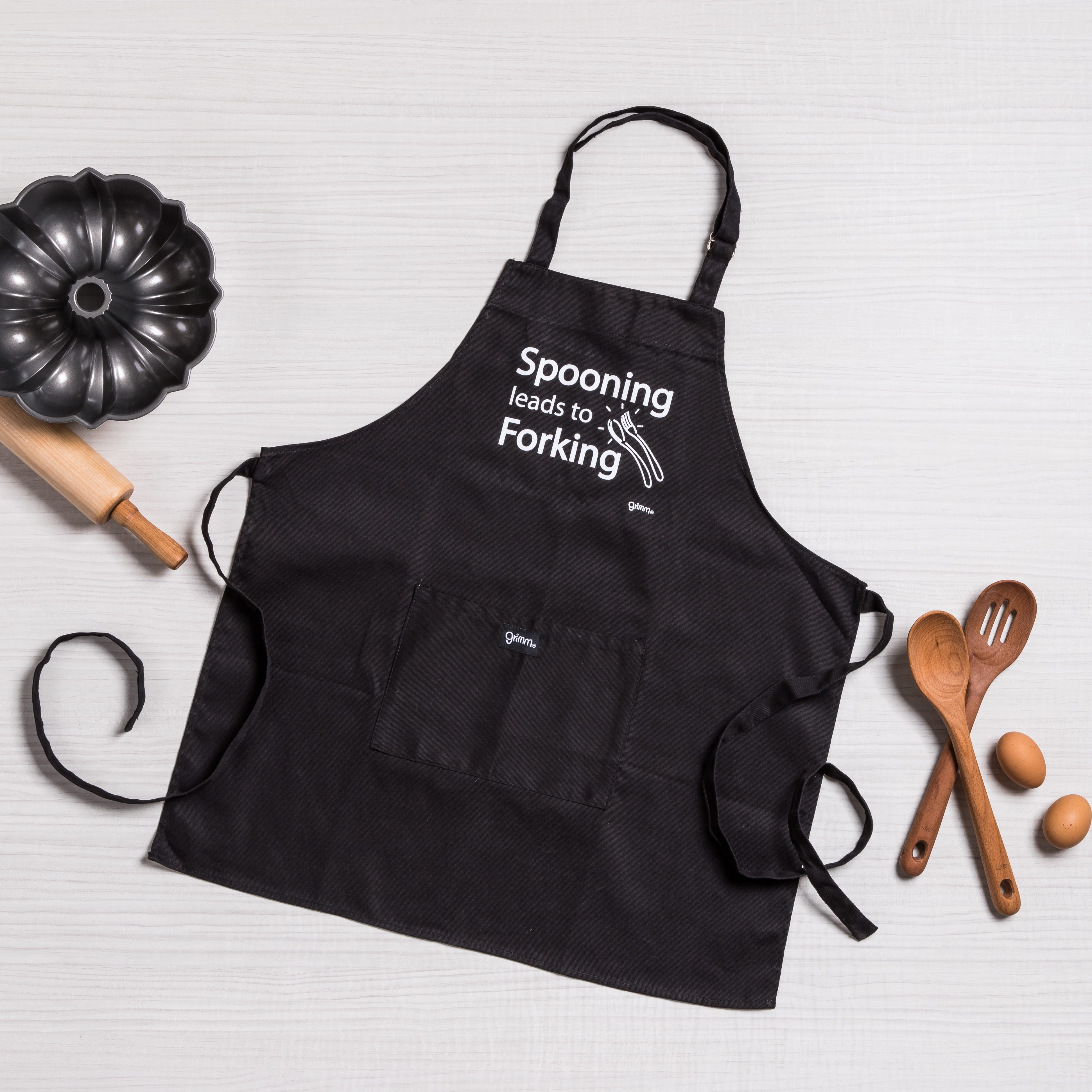 "Grimm Apron ""Spooning Leads to Forking"""