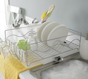 Wave Dish Rack- White