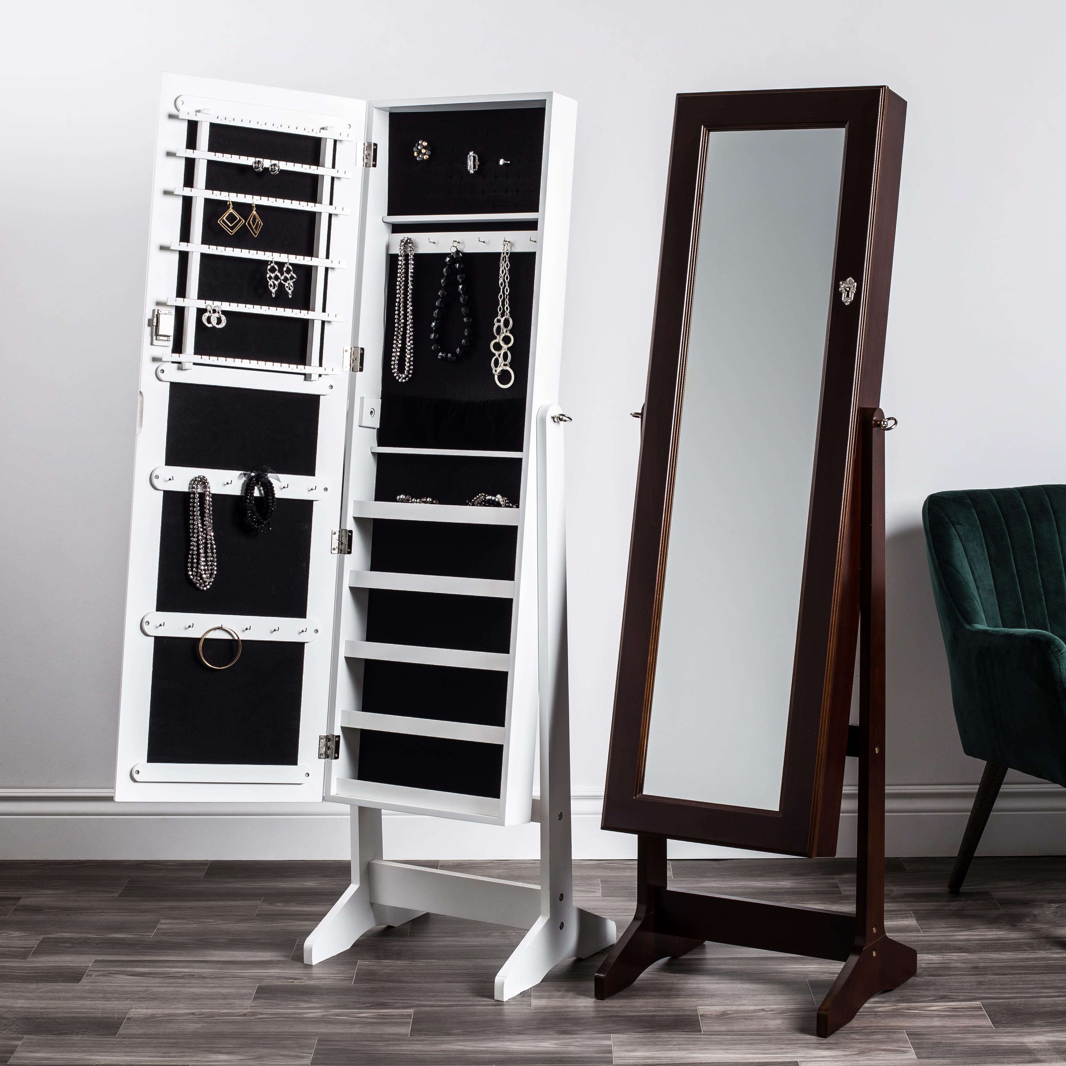 Sophia Jewelry Cabinet with Full Length Mirror