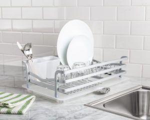 Avanti Dish Rack with Tray (Aluminum)