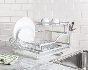 Avanti Dish Rack with Tray 2-Tier (Aluminum)