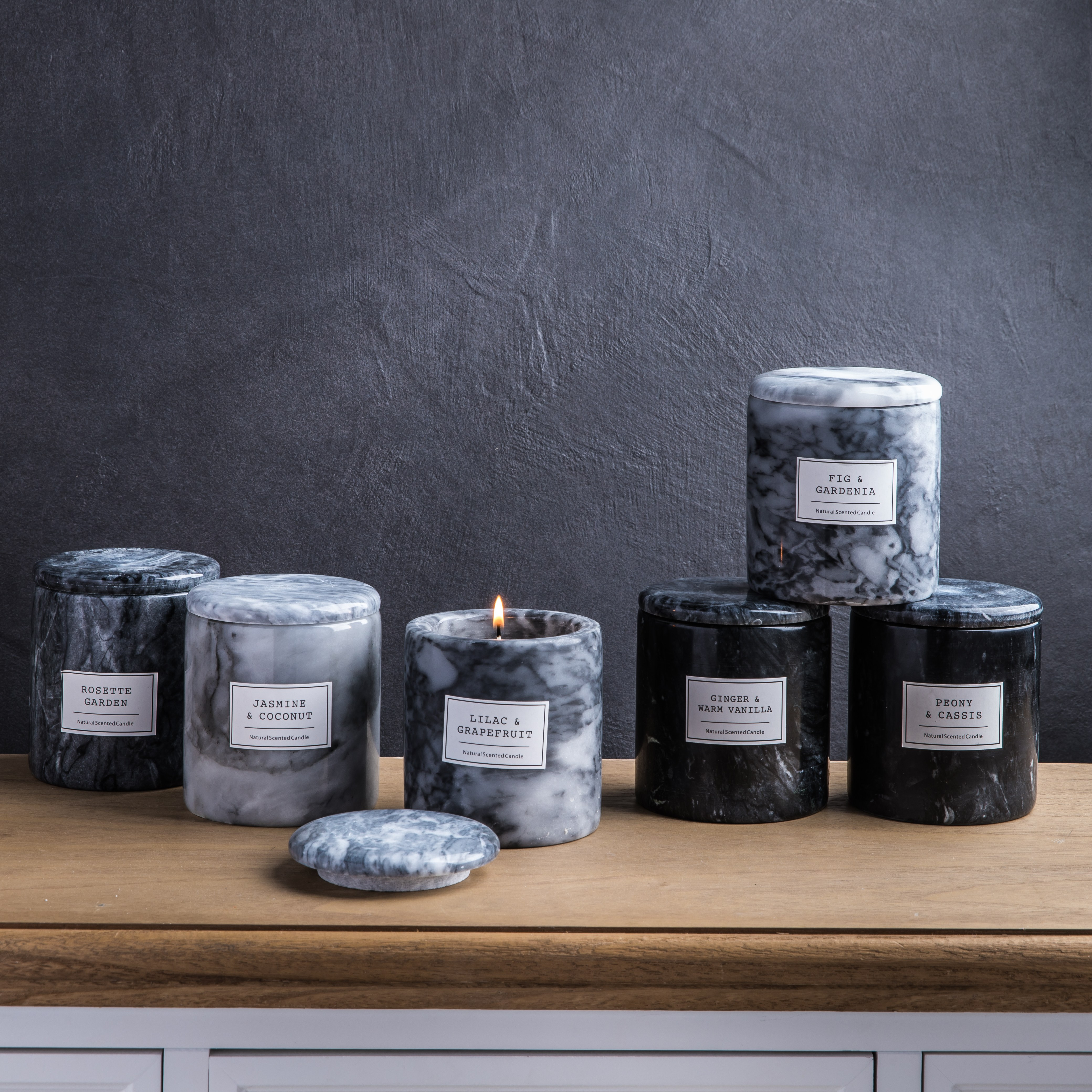 Marble Spa Candles