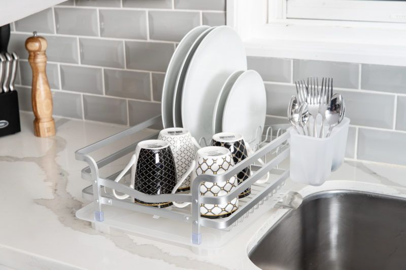 Avanti Dish Rack with Tray (Aluminum)