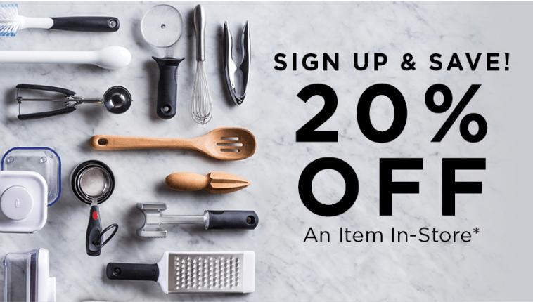 20% off coupon at Kitchen Stuff Plus