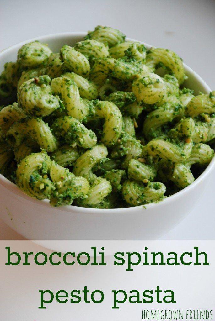 broccoli spinach pesto pasta