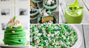 collage of st patrick's day recipe ideas