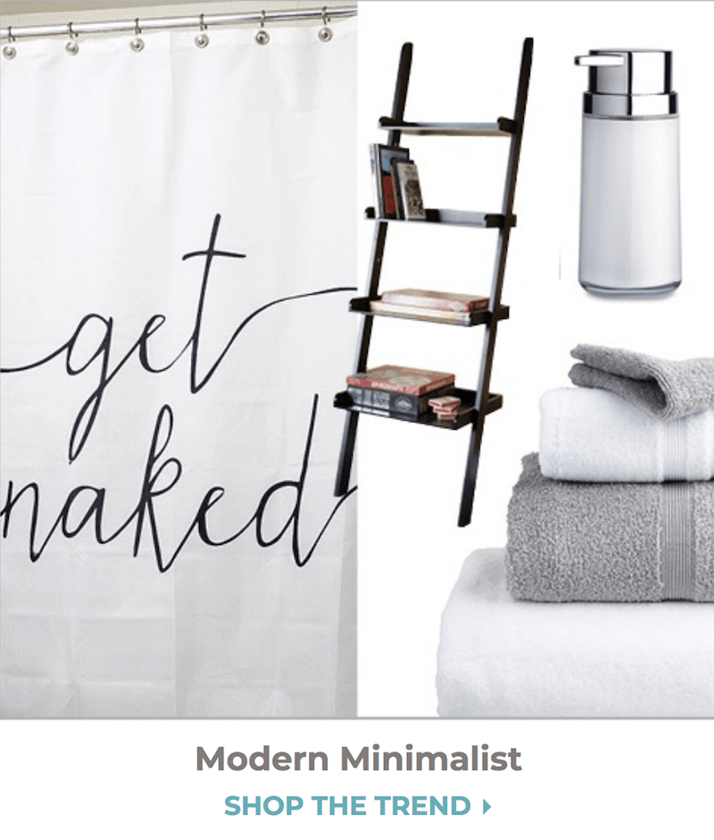 collage of items for minimalist trend