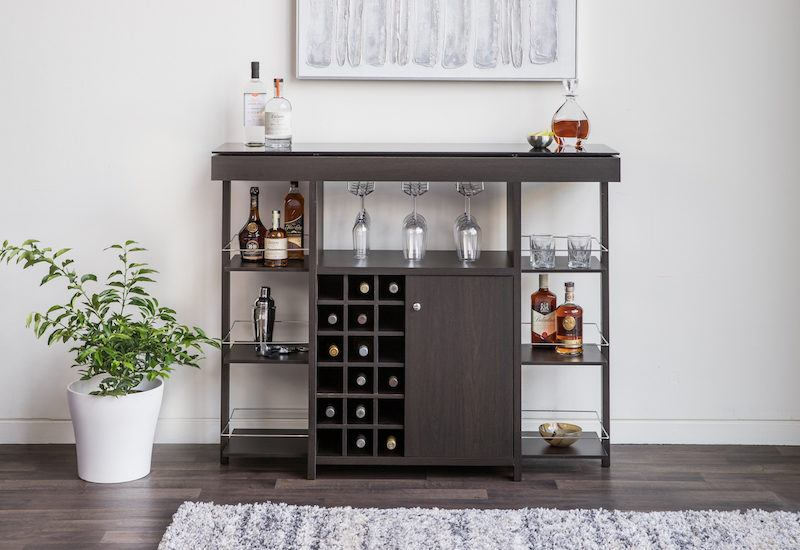 bar unit with glass top - furniture
