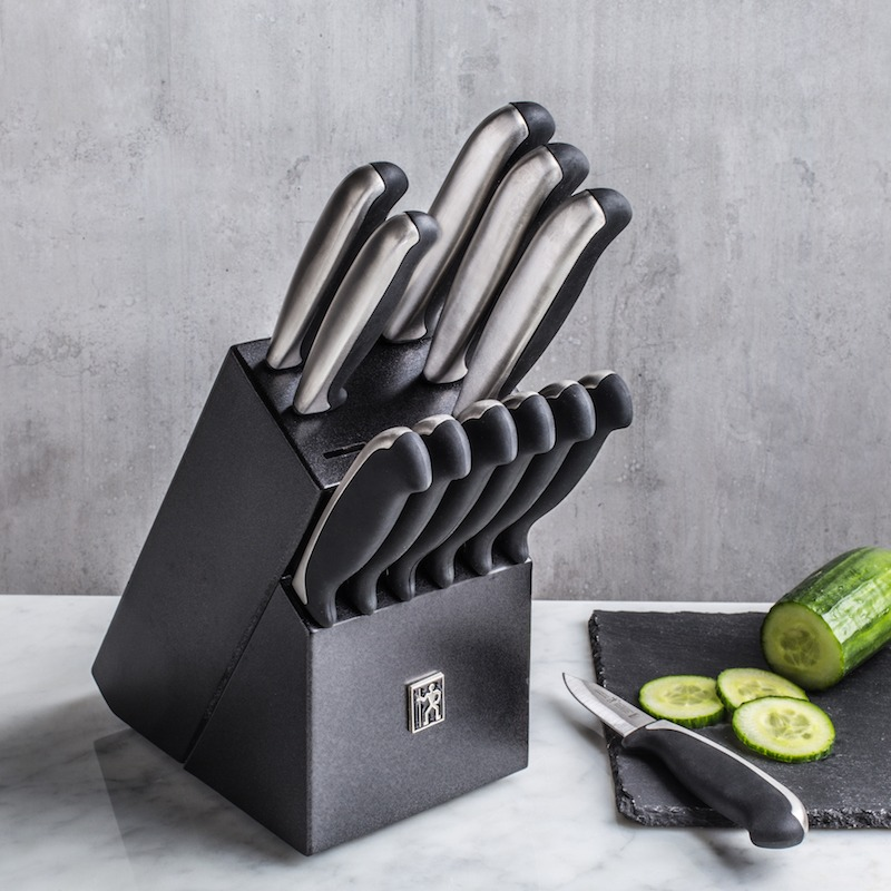 13 piece stainless steel knife block set