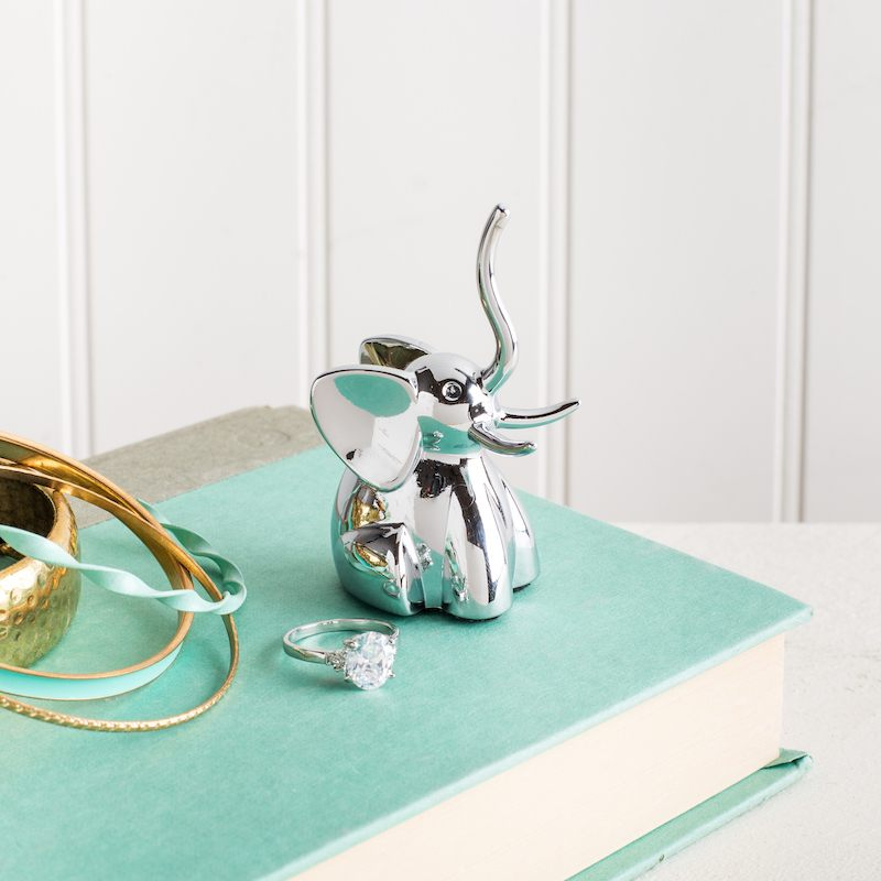 chrome elephant ring holder