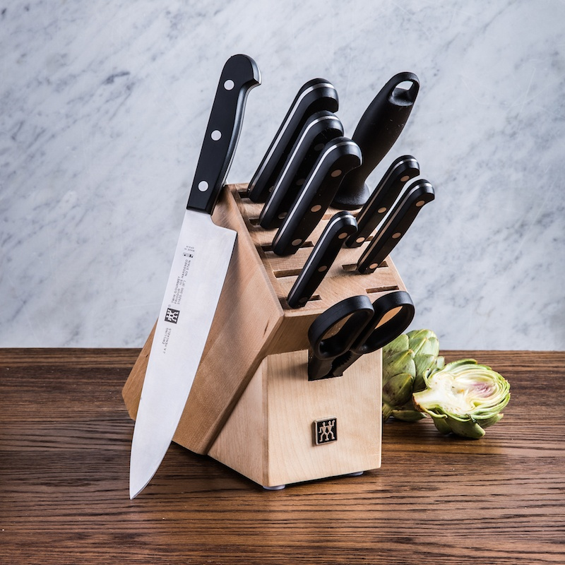 10 piece knife block set