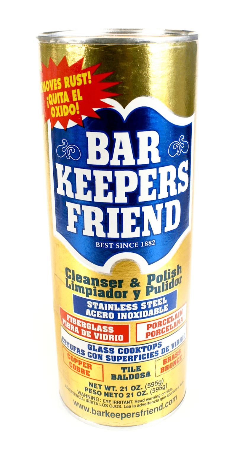 yellow container of bar keeper's friend