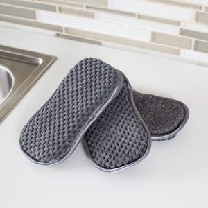 charcoal microfiber scrubber sponges