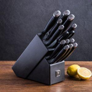 14 piece silvercap knife block set