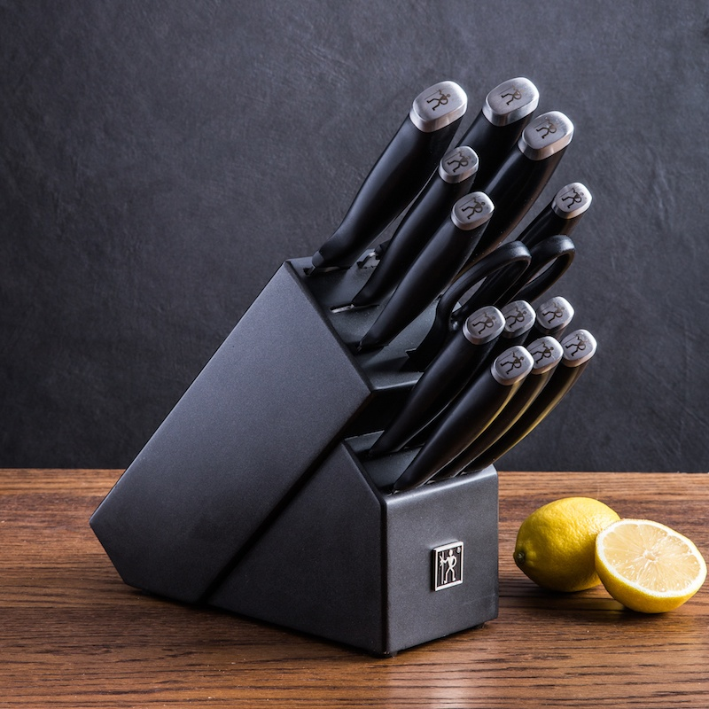14 piece silvercap knife block set