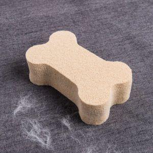 bone shaped pet hair remover sponge